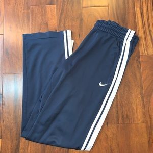 Navy Nike Track Pant with Zip ankles